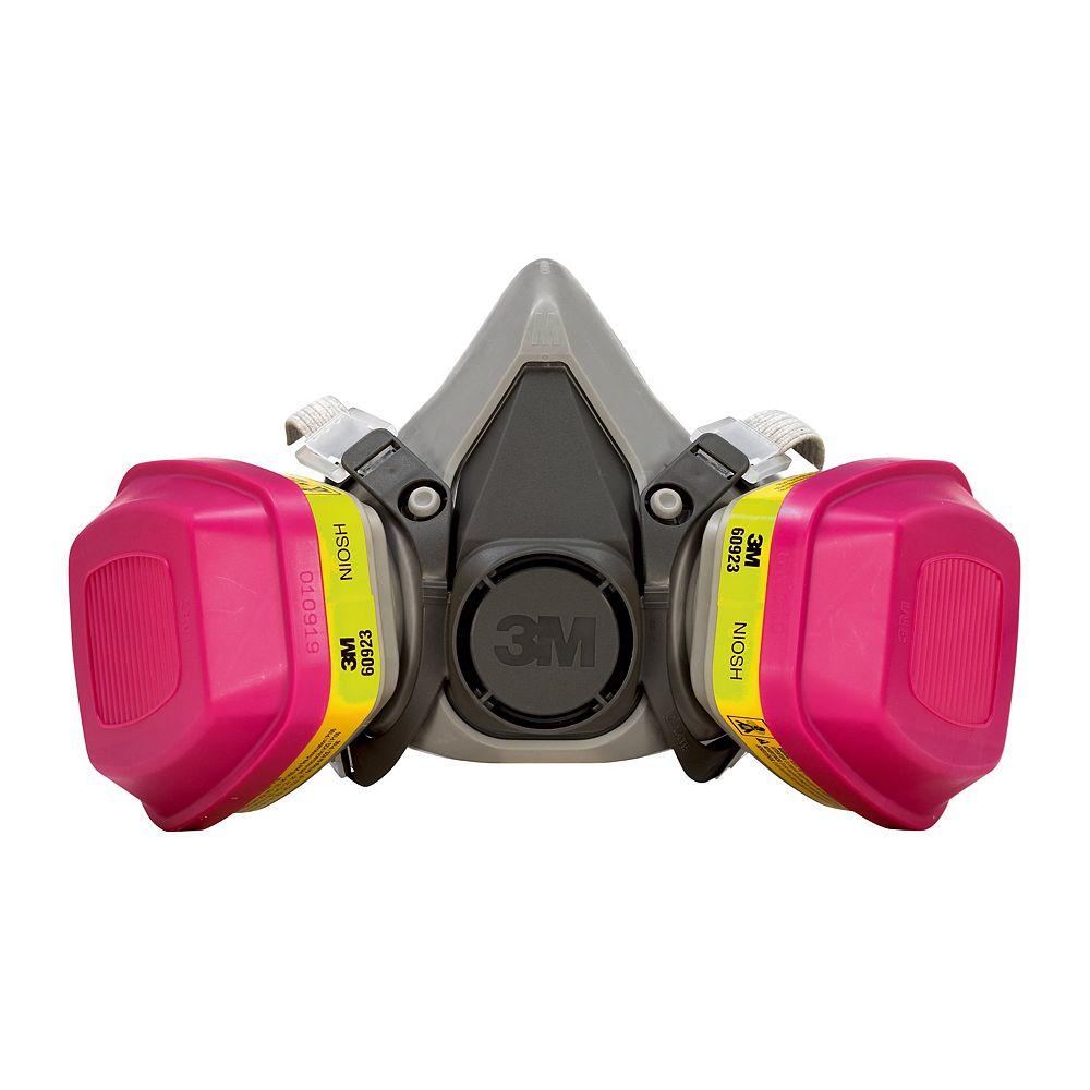 3M Multi-Purpose Respirator,  reusable, black/pink