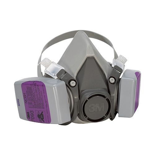 Lead Paint Removal Respirator, reusable, grey/purple