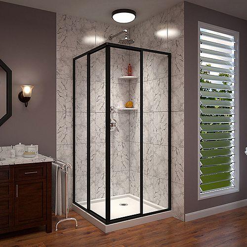 DreamLine Cornerview 36 inch D x 36 inch W x 74 3/4 inch Sliding Shower Enclosure and Shower Base