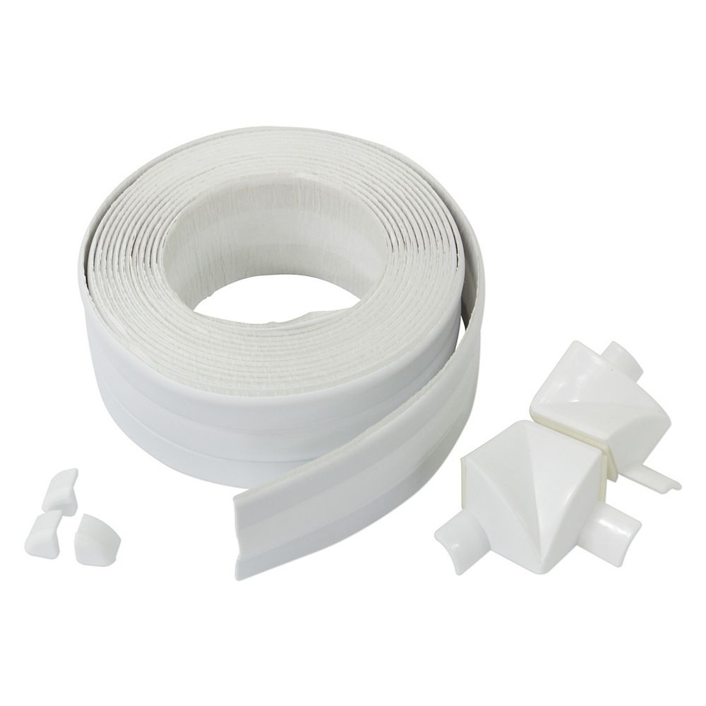 M-D Building Products Seal-A-Crack Tub Surround 1-1/2 inch x 11 ft (3.8 cm x 3.35 m) White