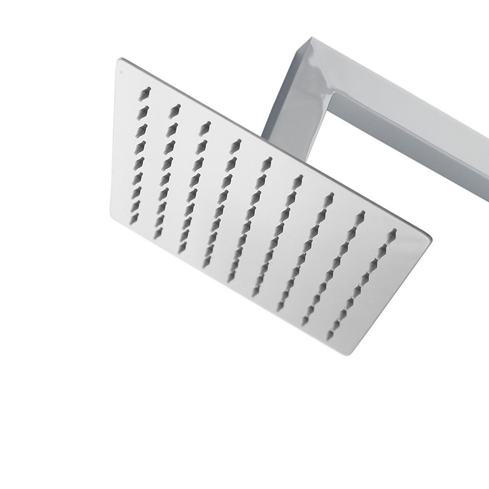 Stylish Single Spray Stainless Steel 8-Inch Square Adjustable Shower Head