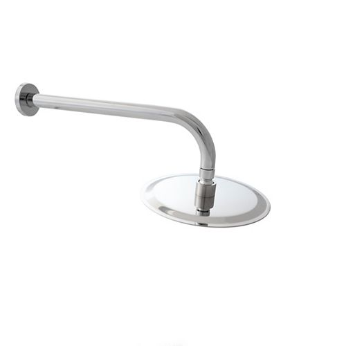 Extra Long Stainless Steel 13 inch Replacement Shower Arm with Flange Round Shower Head
