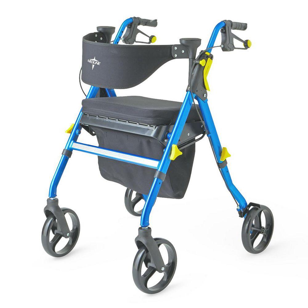 Medline Démbulateur Empower Rollator in Blue