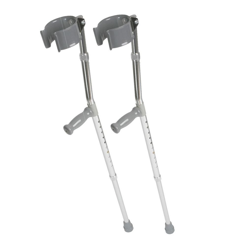 Medline Youth Aluminum Push Button Crutches