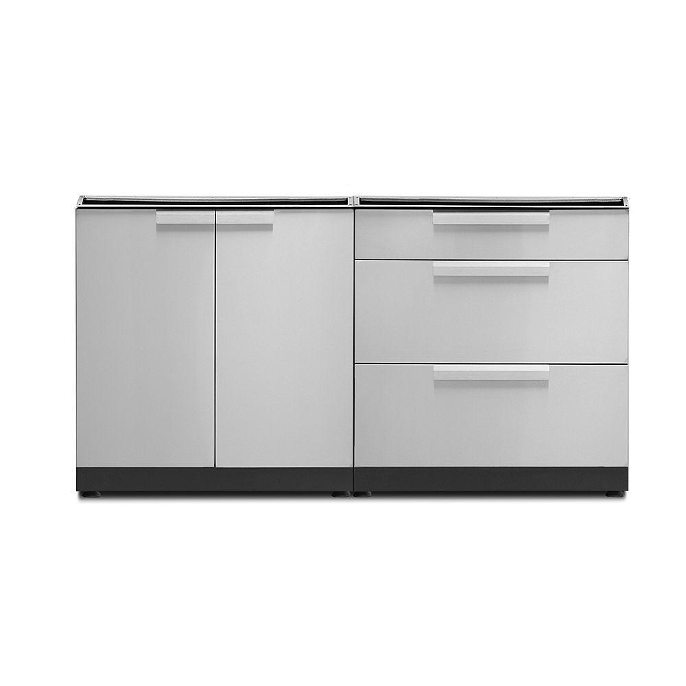 NewAge Outdoor Kitchen Stainless Steel 2-Piece Cabinet Set