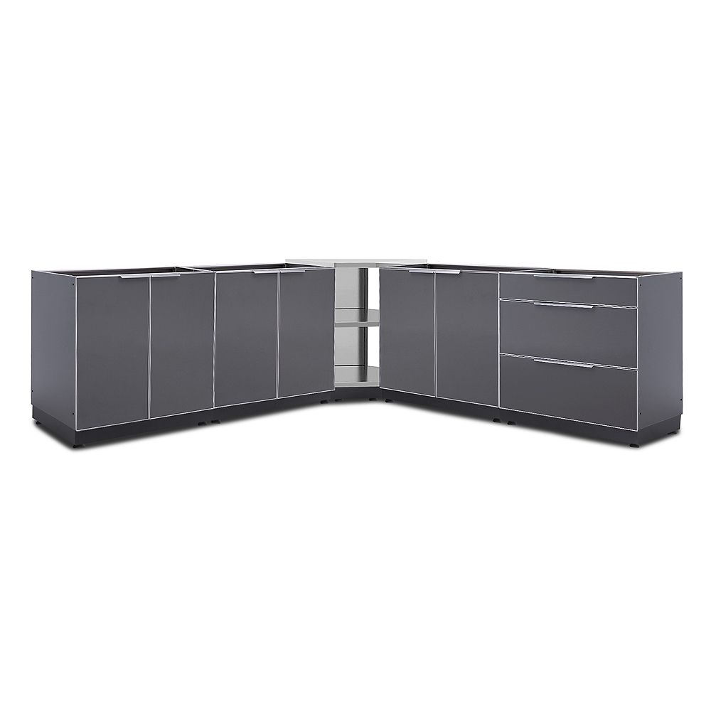 NewAge Products Outdoor Kitchen 5-Piece Cabinet Set in Slate Gray