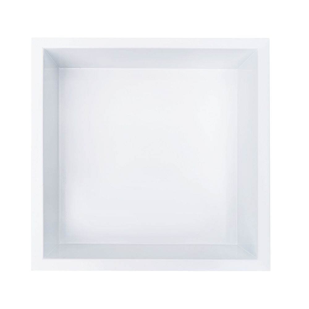 Jag Plumbing Products 12 inch x 12 inch Stainless Steel Shower Niche in White