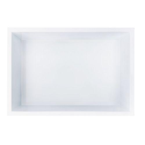 12 inch x 18 inch Stainless Steel Shower Niche in White