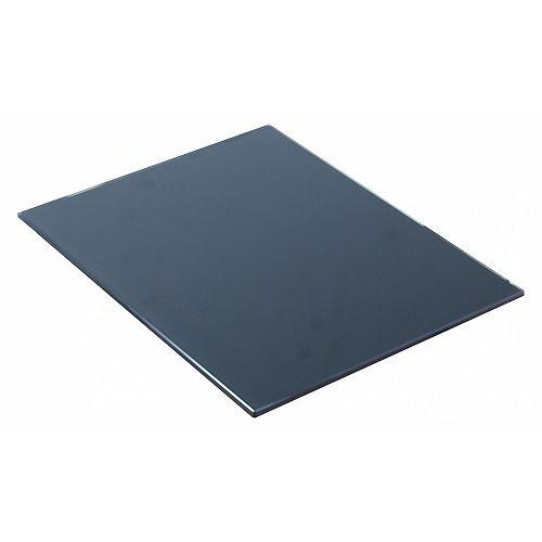 14-inch W X 18.25-inch Zen Countertop D Glass Top in Black Color