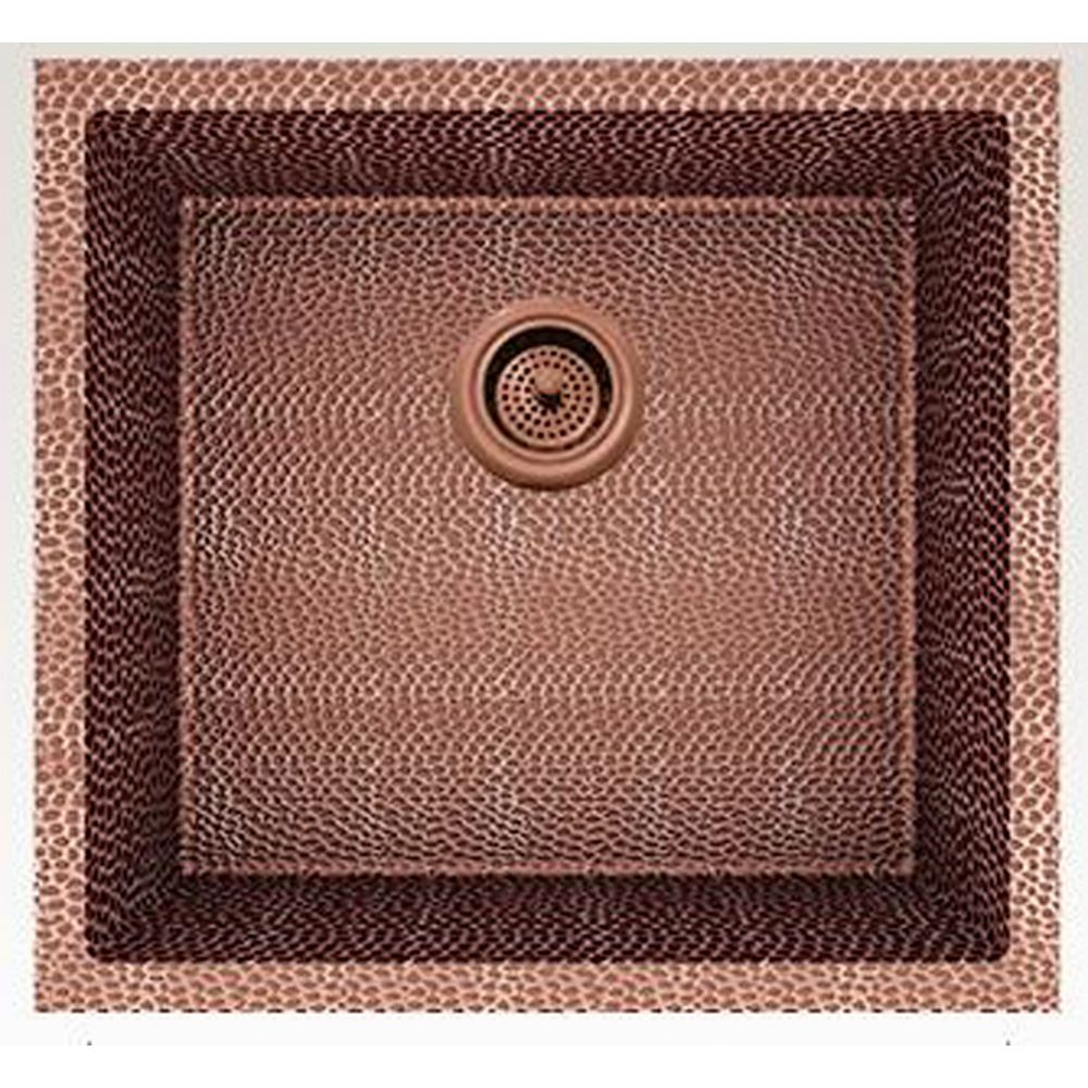 American Imaginations 19-inch W Deck Mount Rose Copper Kitchen Sink and 16 Gauge in Rose Copper Color