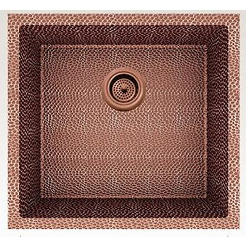 19-inch W Wall Mount Rose Copper Kitchen Sink and 16 Gauge in Rose Copper Color