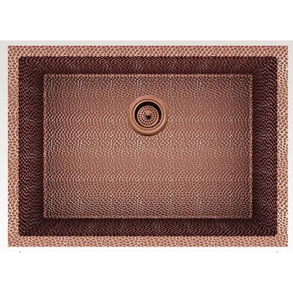 American Imaginations 25-inch W Deck Mount Rose Copper Kitchen Sink and 16 Gauge in Rose Copper Color