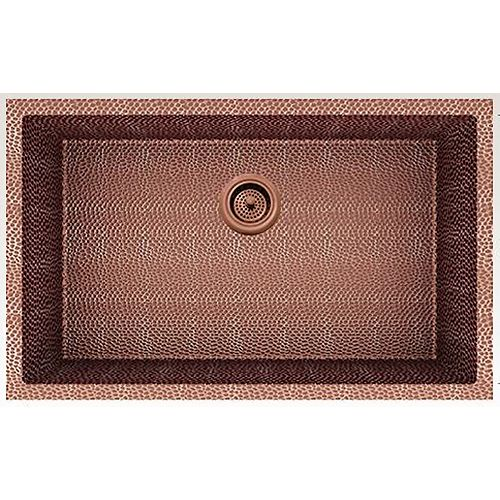 29-inch W Wall Mount Rose Copper Kitchen Sink and 16 Gauge in Rose Copper Color