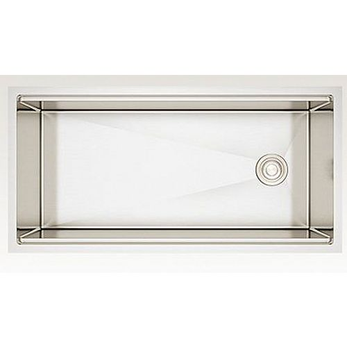38-inch W Wall Mount Stainless Steel Kitchen Sink and 16 Gauge in Stainless Steel Color