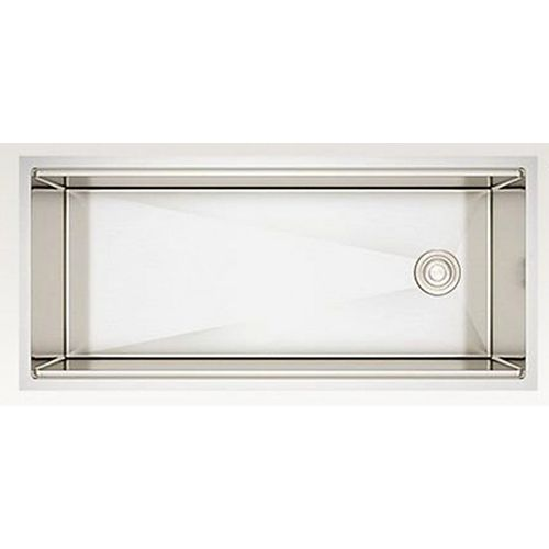 42-inch W Wall Mount Stainless Steel Kitchen Sink and 16 Gauge in Stainless Steel Color