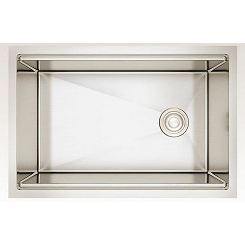 27-inch W Wall Mount Stainless Steel Kitchen Sink and 16 Gauge in Stainless Steel Color