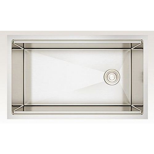 30-inch W Wall Mount Stainless Steel Kitchen Sink and 16 Gauge in Stainless Steel Color