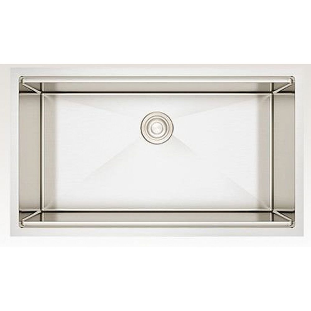 American Imaginations 33-inch W Deck Mount Stainless Steel Kitchen Sink and 16 Gauge in Stainless Steel Color