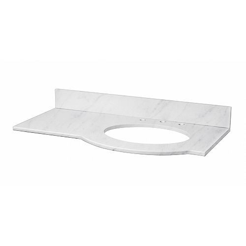 37.8-inch W 22.5-inch D Stone Top for 3H8-inch Faucet ( Tiffany )