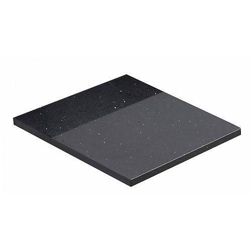 14-inch W 18.25-inch D Stone Top in Black Galaxy Color ( Xena Quartz )