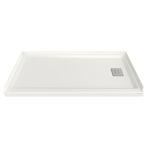 Bases de douche en acrylique 60 po x 32 po avec renvoi à droite