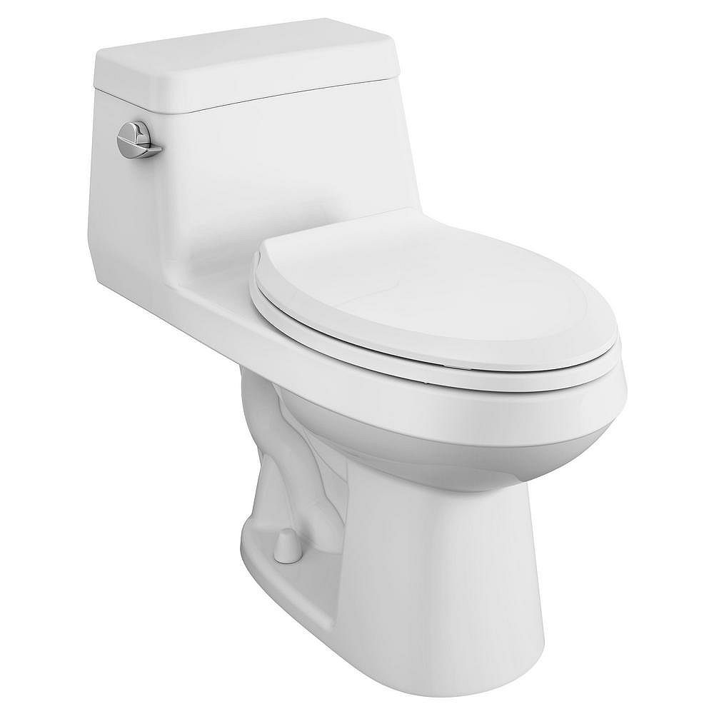 American Standard Colony 1-Piece 1.28 GPF Single Flush Elongated Toilet in White with Seat