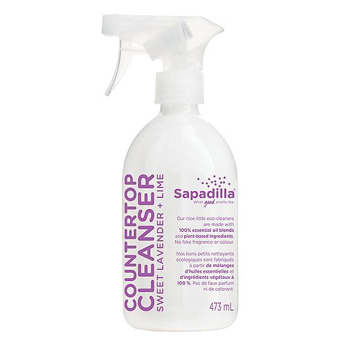 Sapadilla Lavender and Lime Biodegradable Countertop Cleanser Spray, 16 Ounce