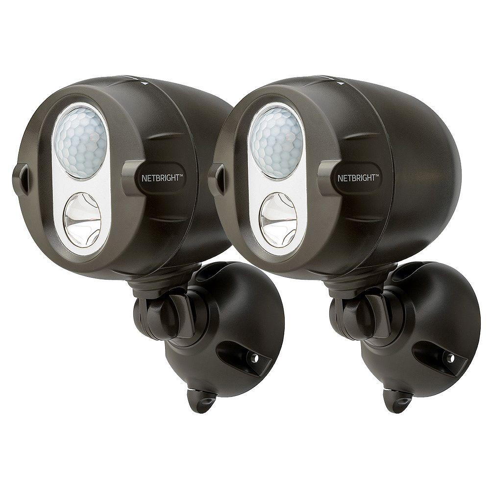 Mr.Beams Wireless NetBright Intelligent Network Motion Sensor LED Spotlight - Brown -2 Pack