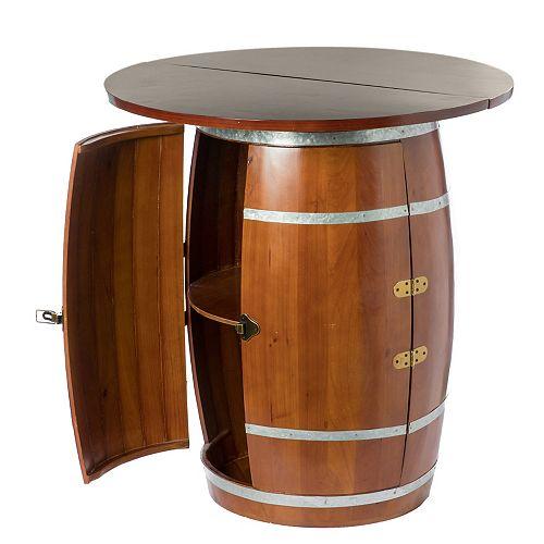 Round Barrel vin de table vin Armoire de rangement