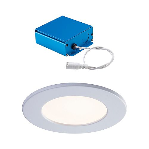 SPEX LIGHTING by Liteline 4-INCH LED WHITE TRIM CCT SLIM RECESSED FIXTURE