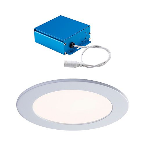 SPEX LIGHTING by Liteline 6-INCH LED WHITE TRIM CCT SLIM RECESSED FIXTURE
