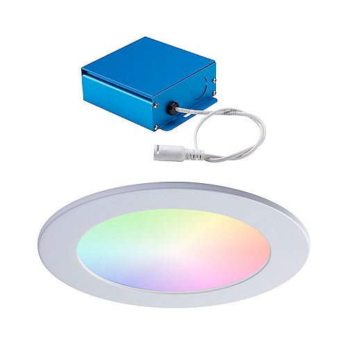 6-INCH LED WHITE WIZ SMART RGBTW SLIM RECESSED FIXTURE