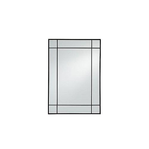 Burke 21-inch W x 30-inch H Metal Window Pane Mirror in Matte Black