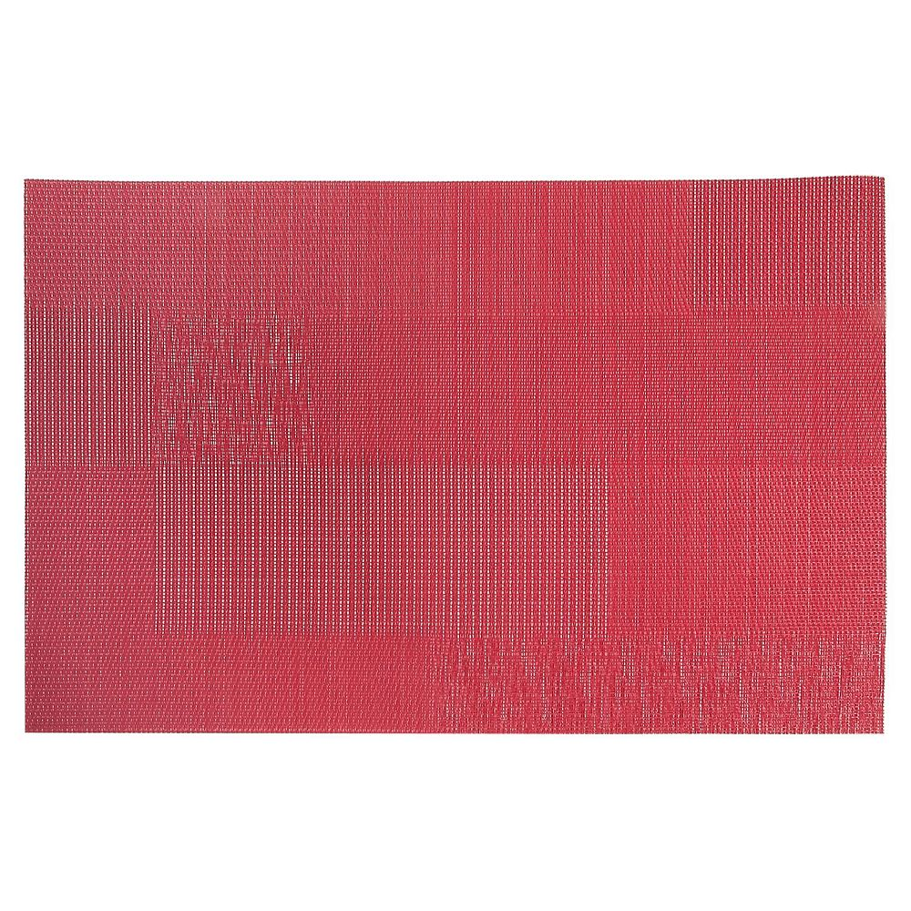 IH Casa Decor Vinyl Placemat (Mason) (Red)-Set of 12
