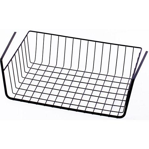 Hanging Under Shelf Metal Storage Basket, Set of 2
