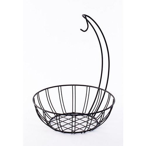 Wire Metal Fruit Basket Holder with Banana Hanger