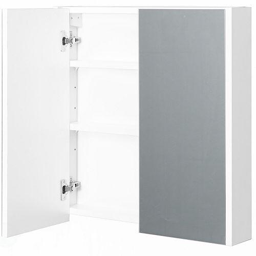 2 étagères blanc mur Mounted Salle de bains / Salle d'eau Mirrored porte Vanity Cabinet pneumologie