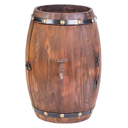 Tonneau en bois en forme de rack décorative vintage vin de stockage