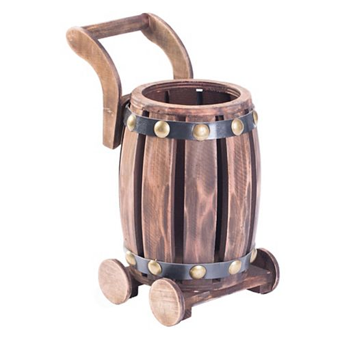 Barrel panier Vintage décoratif bouteille unique en forme de porte-vin en bois