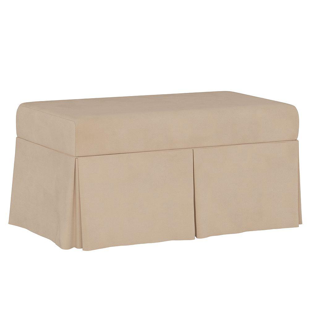 Skyline Furniture Hamilton Storage Bench in Velvet Pearl