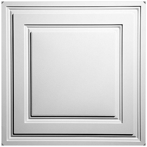 Tuiles de plafond suspendu Stratford Feather-Light blanches 2 pi x 2 pi (paquet de 40)