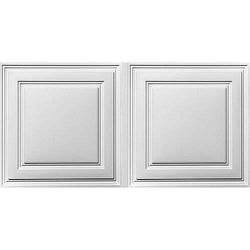 Tuiles de plafond suspendu Stratford Feather-Light blanches 2 pi x 4 pi (paquet de 30)