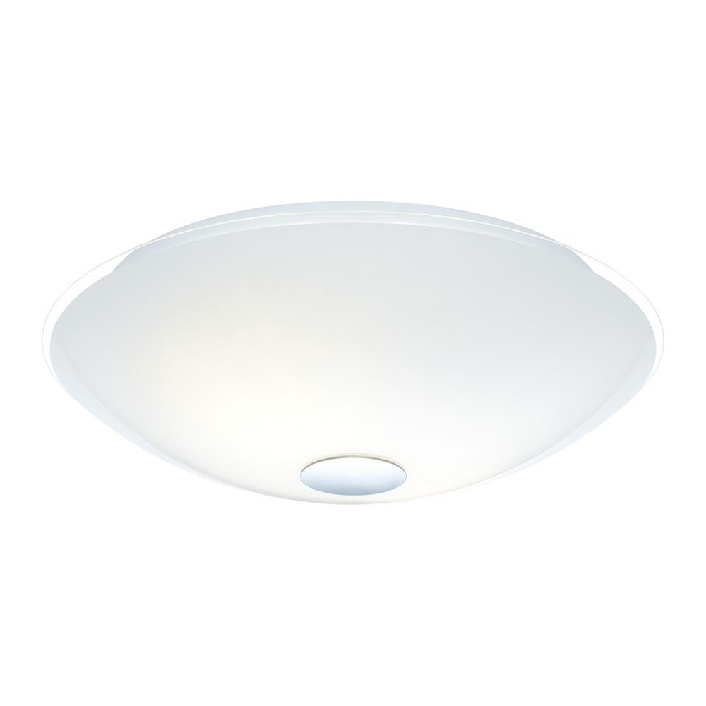 Eglo Nube 3-Lights 60W Chrome with White and Clear Glass Flushmount