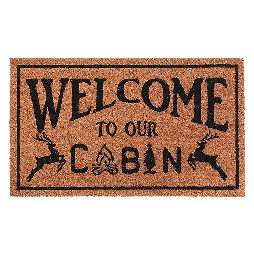 Coir Door Mat (Welcome To Our Cabin)