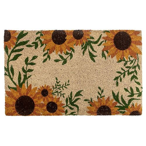 Coir Door Mat (Sunflower Border)