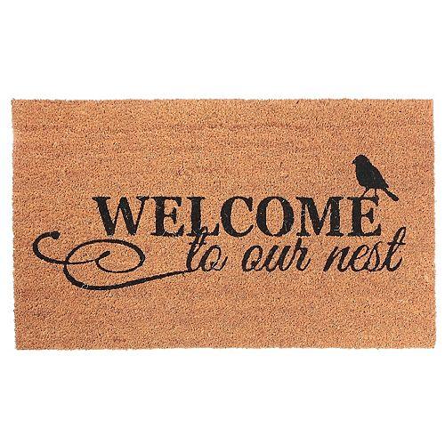 Coir Door Mat (Welcome To Our Nest)