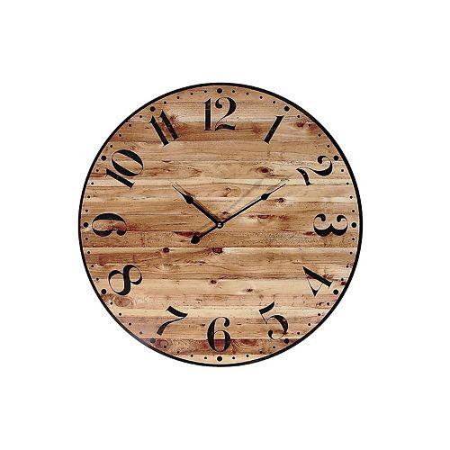 "Round Mdf Horloge Murale (Bois Faux) (24"" Dia)-Set of 0"