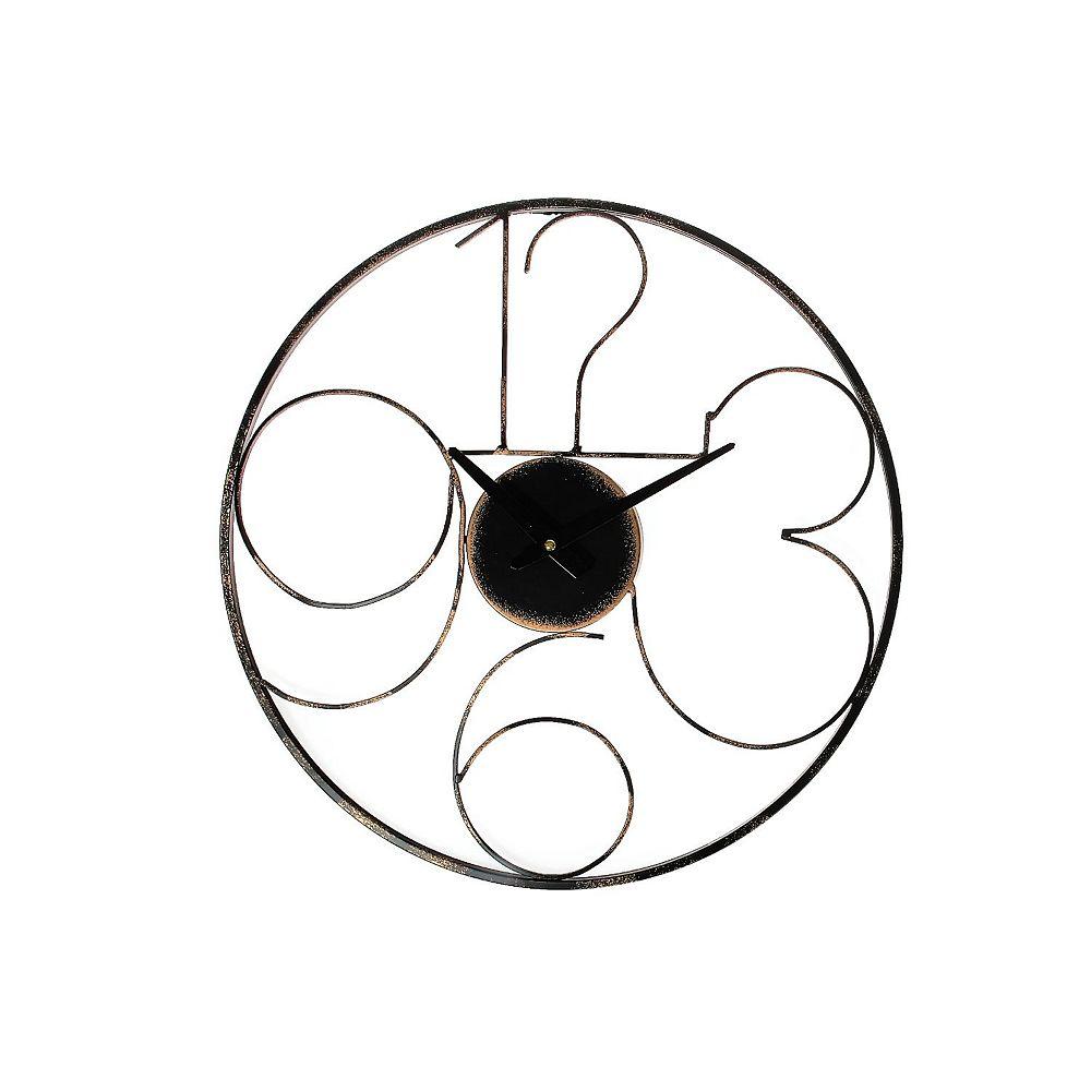 """IH Casa Decor Round Metal Wall Clock (Modern Minimalistic) (20"""" Dia)"""