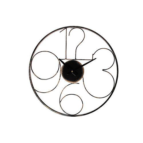"""Round Metal Wall Clock (Modern Minimalistic) (20"""" Dia)"""