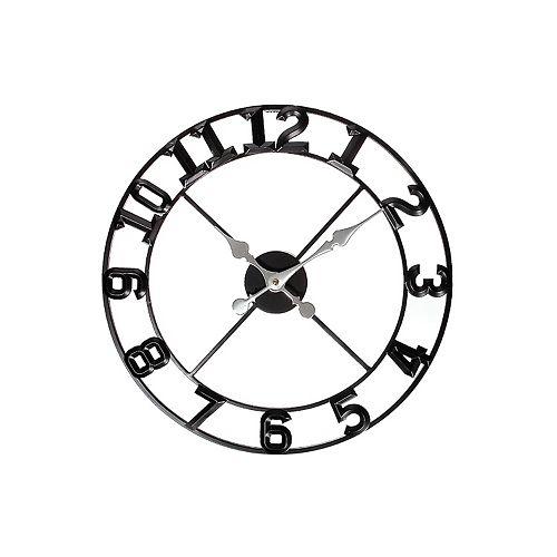 """Round Metal Wall Clock (Simplicity) (20"""" Dia)"""